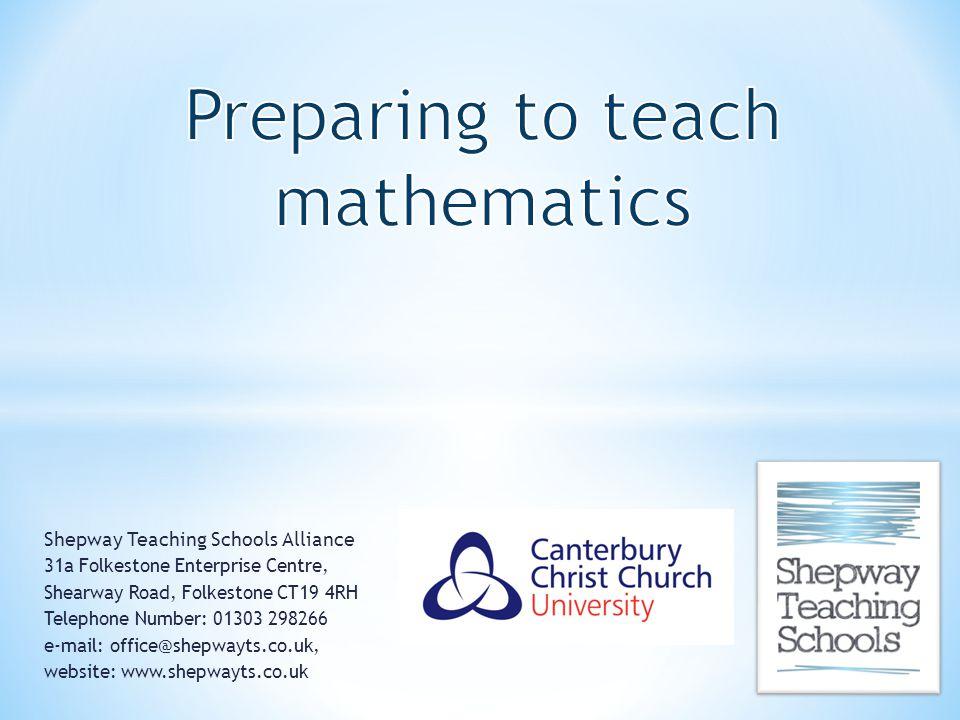 Preparing to teach mathematics