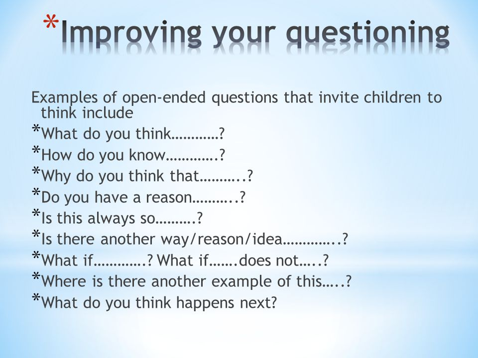 Improving your questioning