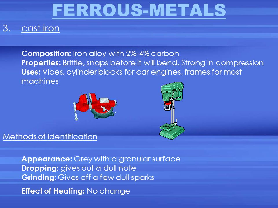 FERROUS-METALS cast iron