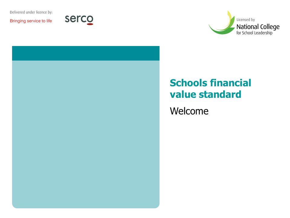 Schools financial value standard