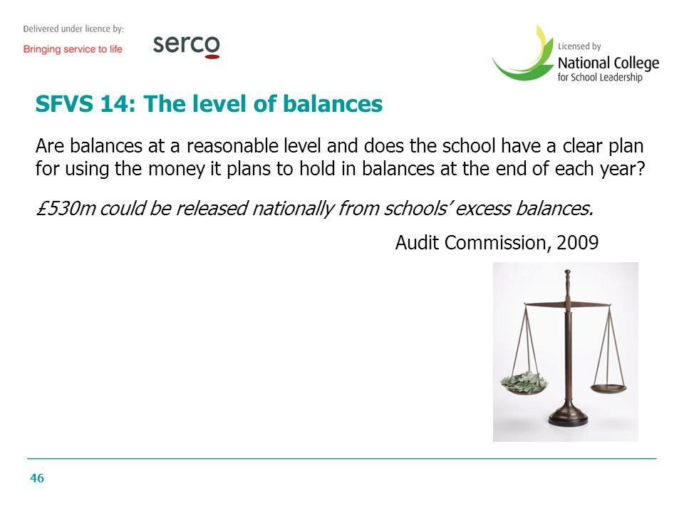 SFVS 14: The level of balances