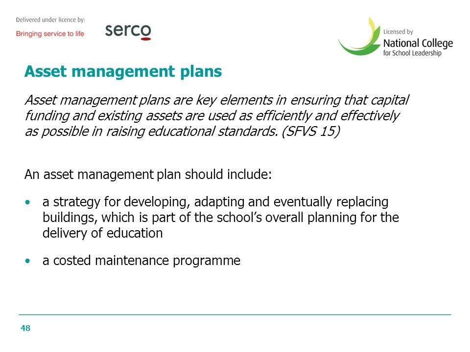 Asset management plans