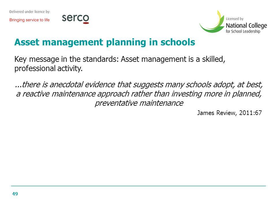 Asset management planning in schools