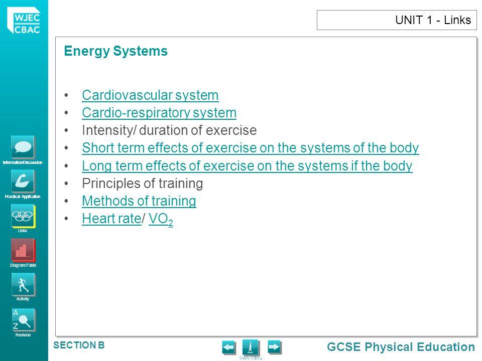 Cardiovascular system Cardio-respiratory system