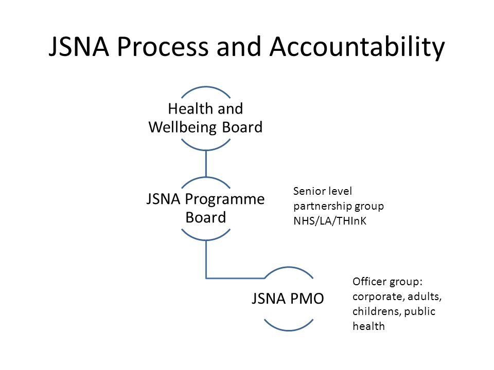 JSNA Process and Accountability