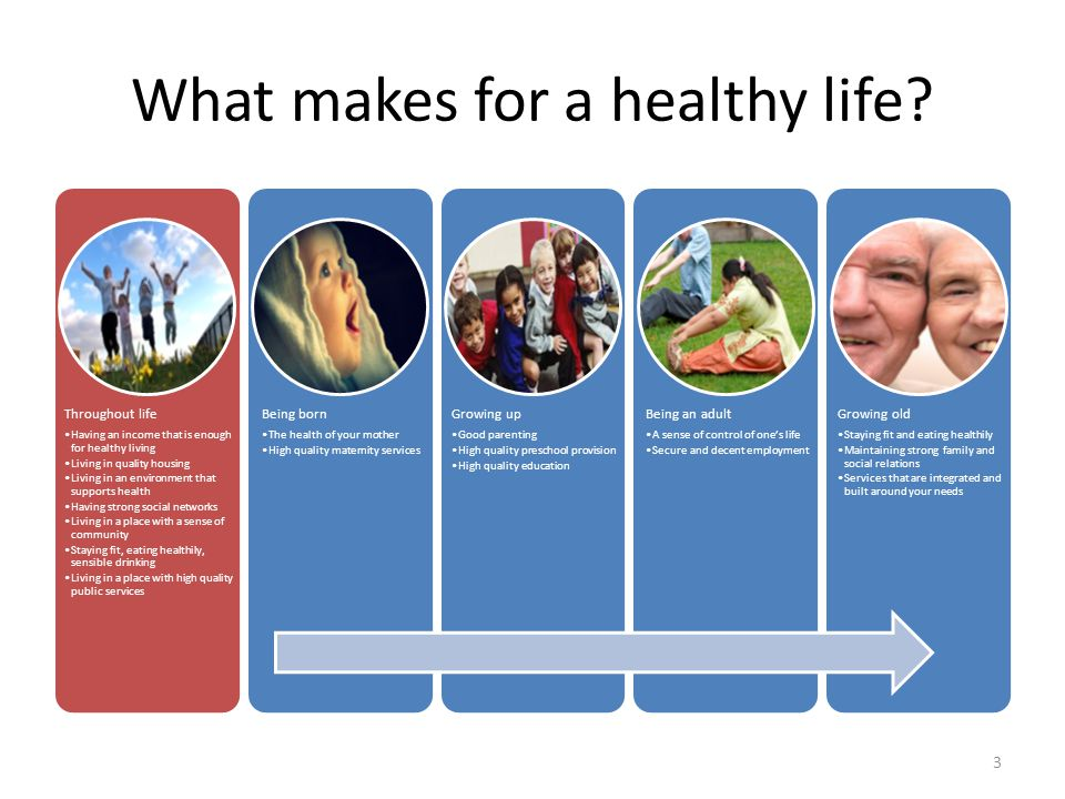 What makes for a healthy life