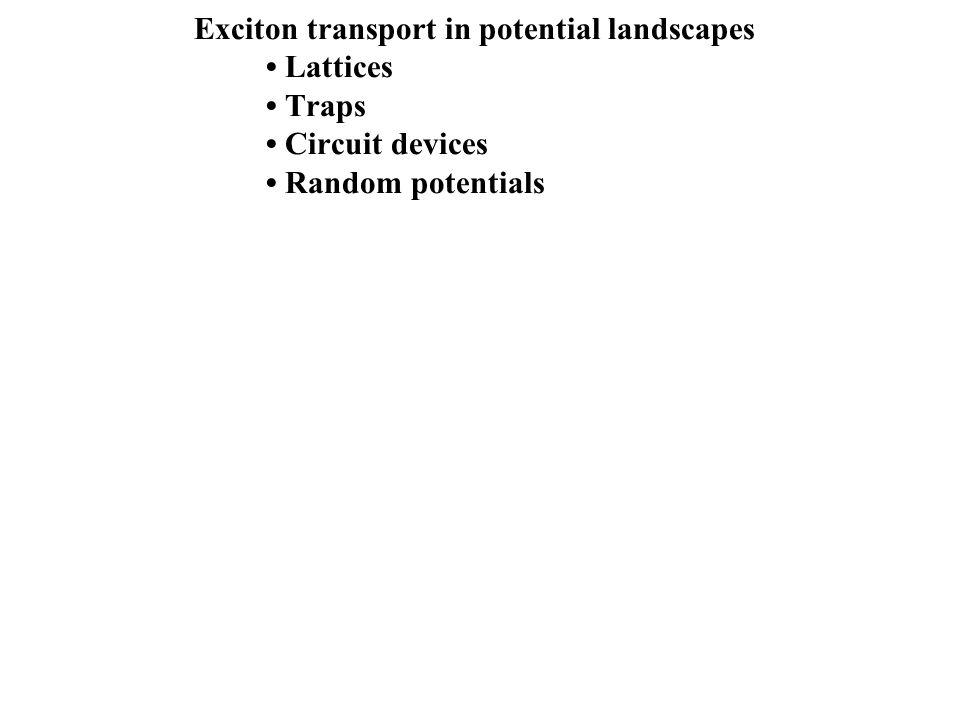 Exciton transport in potential landscapes • Lattices • Traps