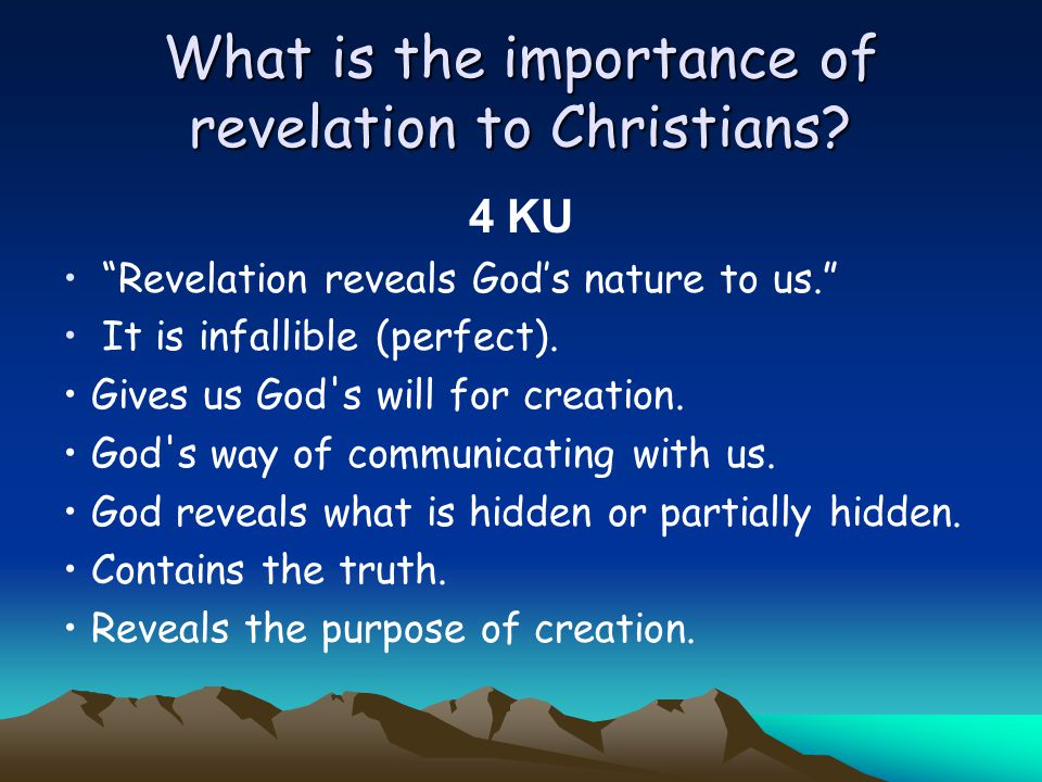 What is the importance of revelation to Christians