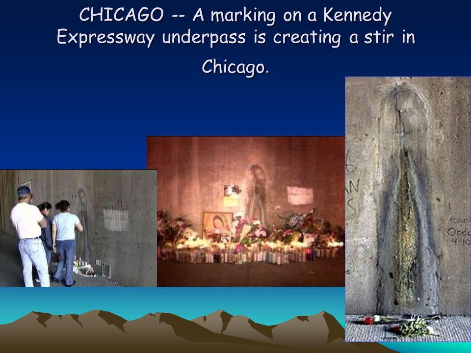 CHICAGO -- A marking on a Kennedy Expressway underpass is creating a stir in Chicago.