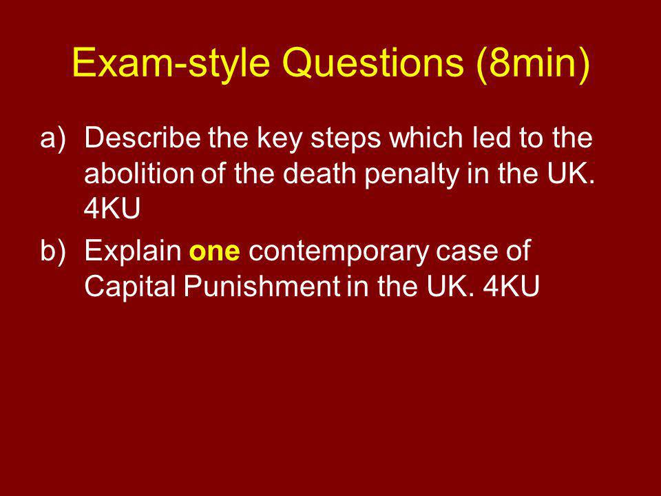 Exam-style Questions (8min)