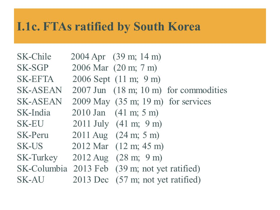 I.1c. FTAs ratified by South Korea