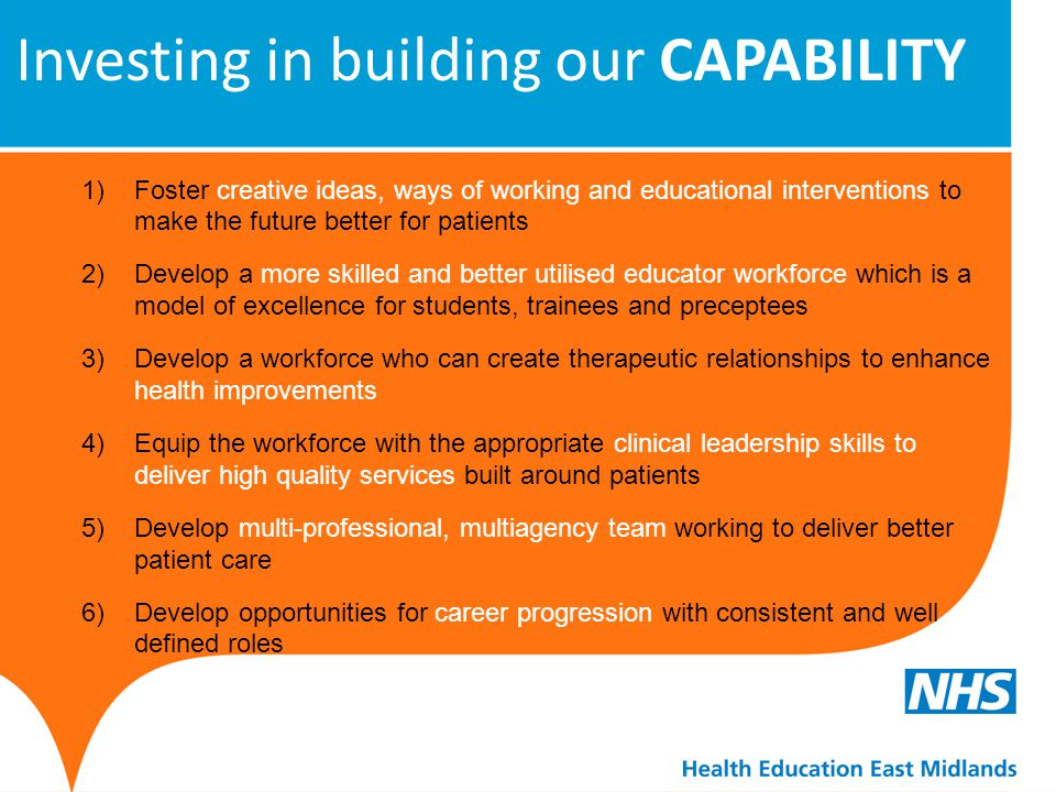 Investing in building our CAPABILITY