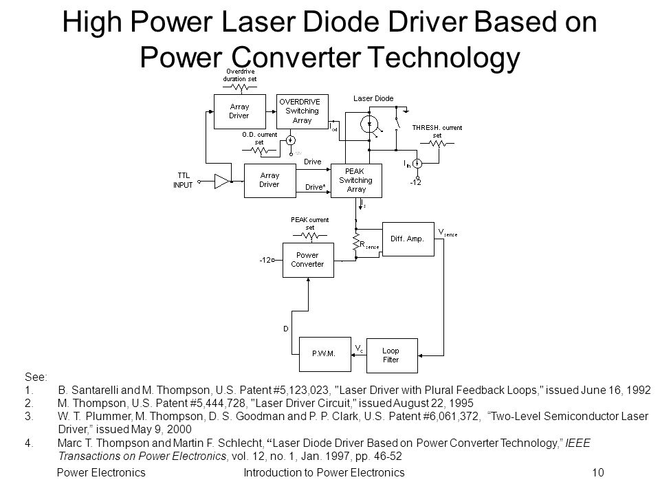 High Power Laser Diode Driver Based on Power Converter Technology