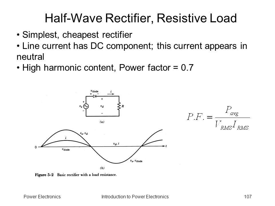 Half-Wave Rectifier, Resistive Load