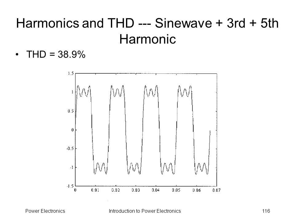 Harmonics and THD --- Sinewave + 3rd + 5th Harmonic