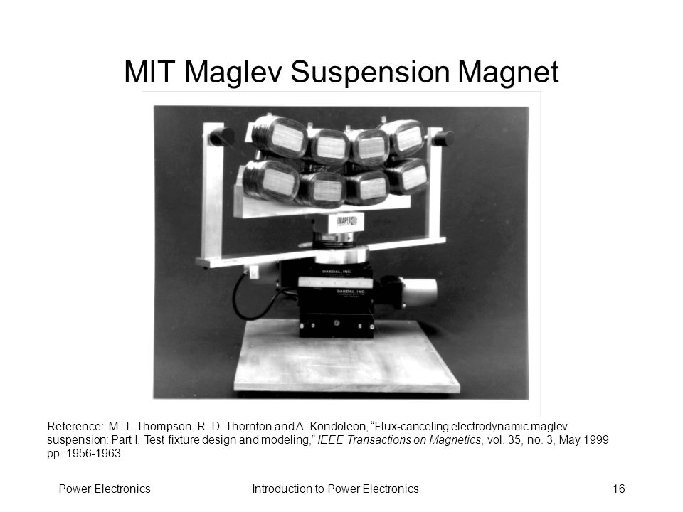 MIT Maglev Suspension Magnet
