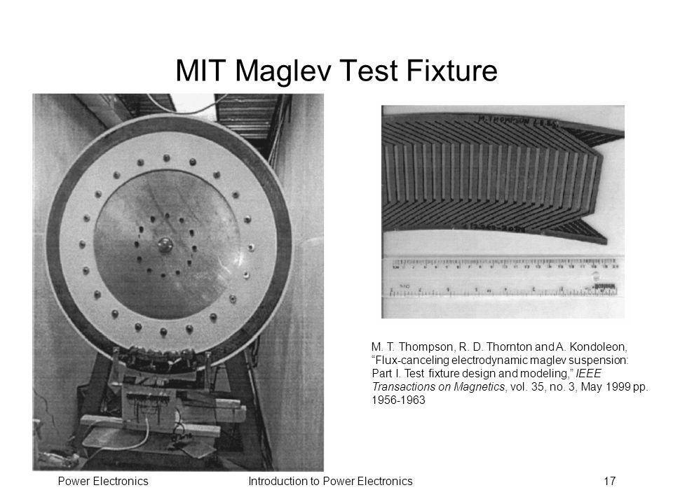MIT Maglev Test Fixture