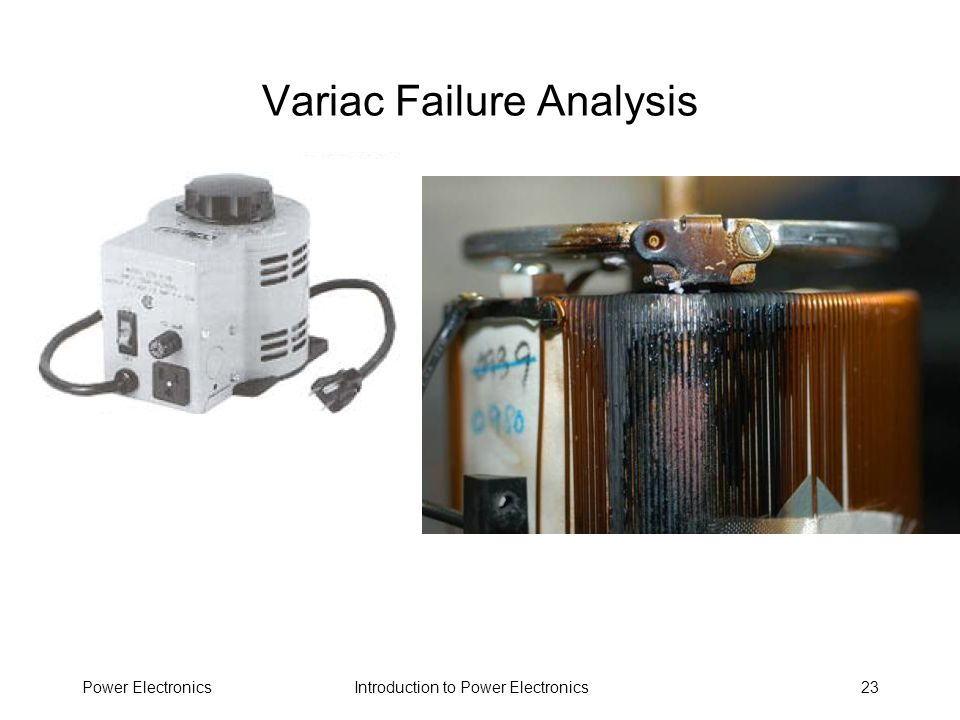 Variac Failure Analysis