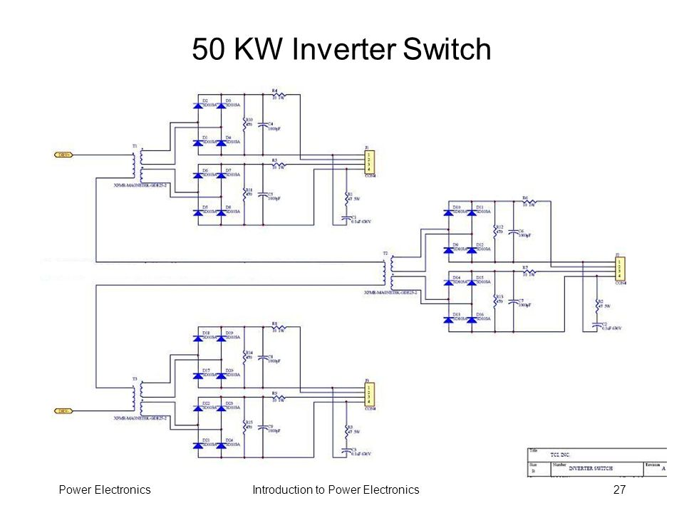 50 KW Inverter Switch Power Electronics
