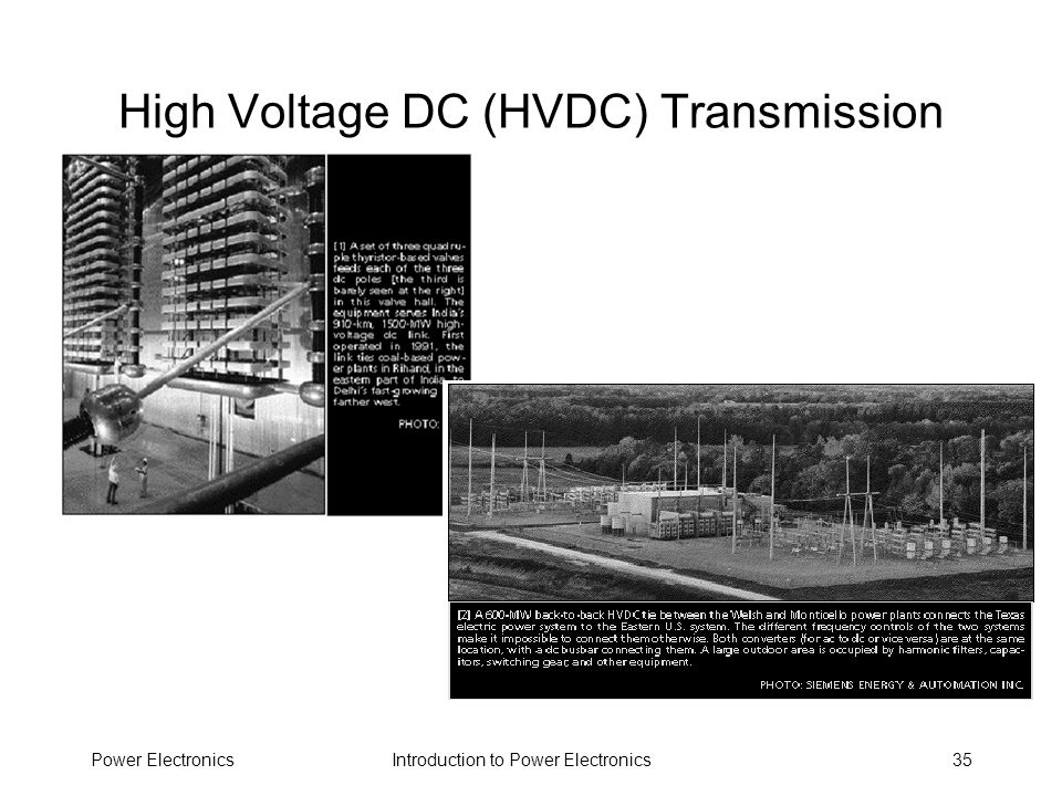 High Voltage DC (HVDC) Transmission
