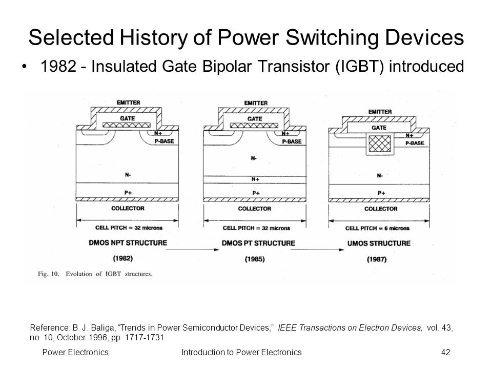 Selected History of Power Switching Devices