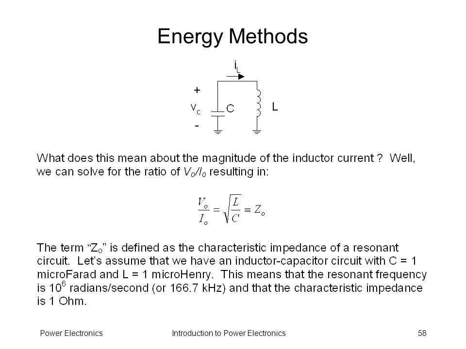 Energy Methods Power Electronics
