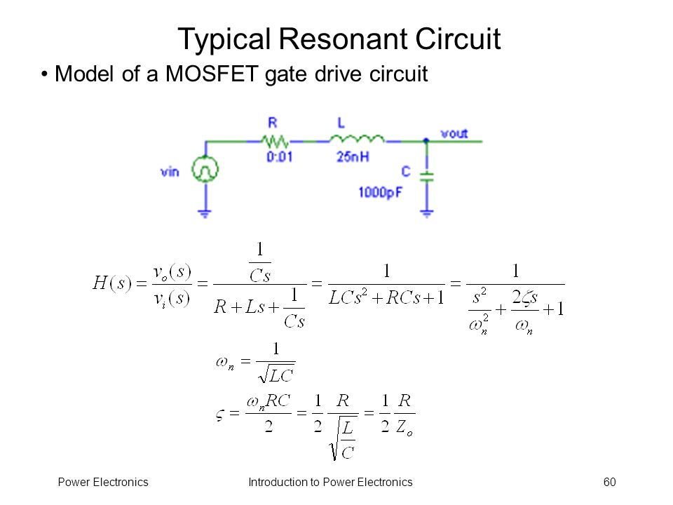 Typical Resonant Circuit
