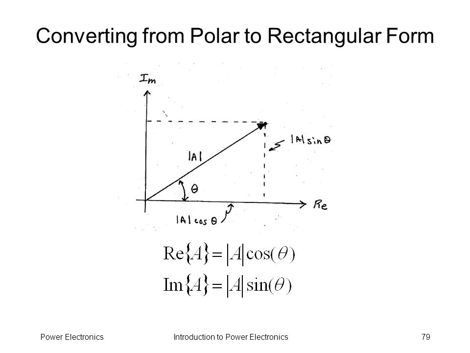 Converting from Polar to Rectangular Form