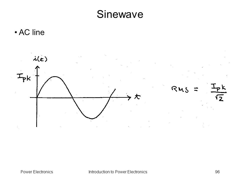 Sinewave AC line Power Electronics