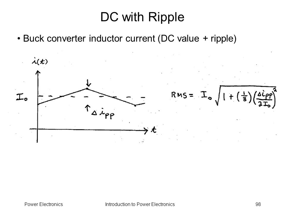 DC with Ripple Buck converter inductor current (DC value + ripple)