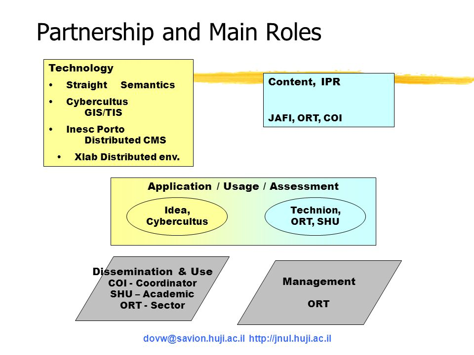 Partnership and Main Roles