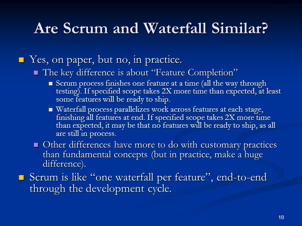 Are Scrum and Waterfall Similar