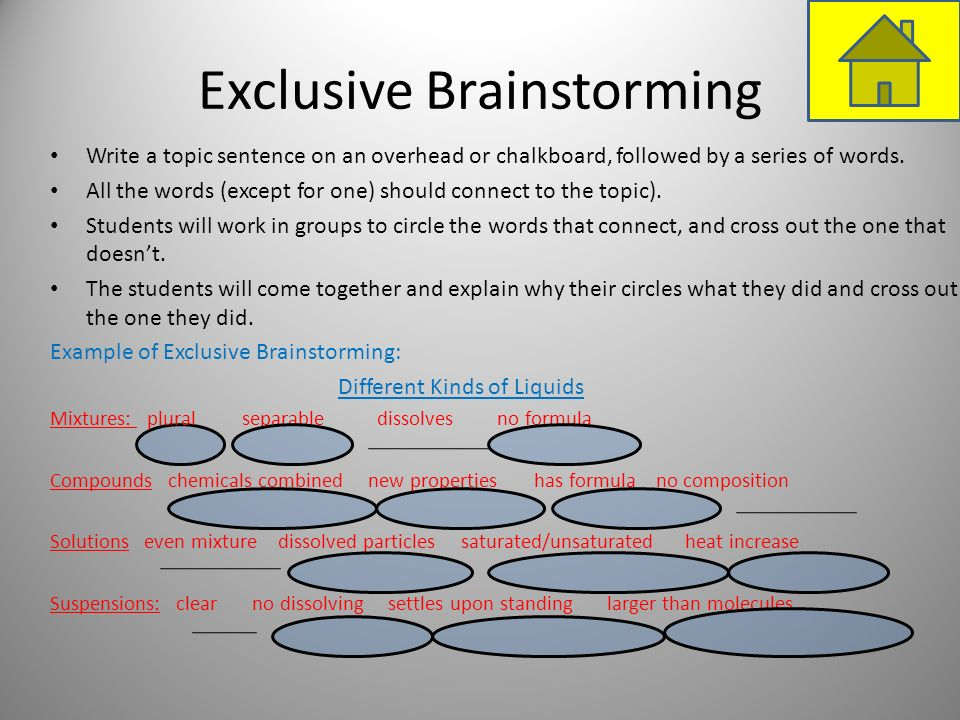 Exclusive Brainstorming