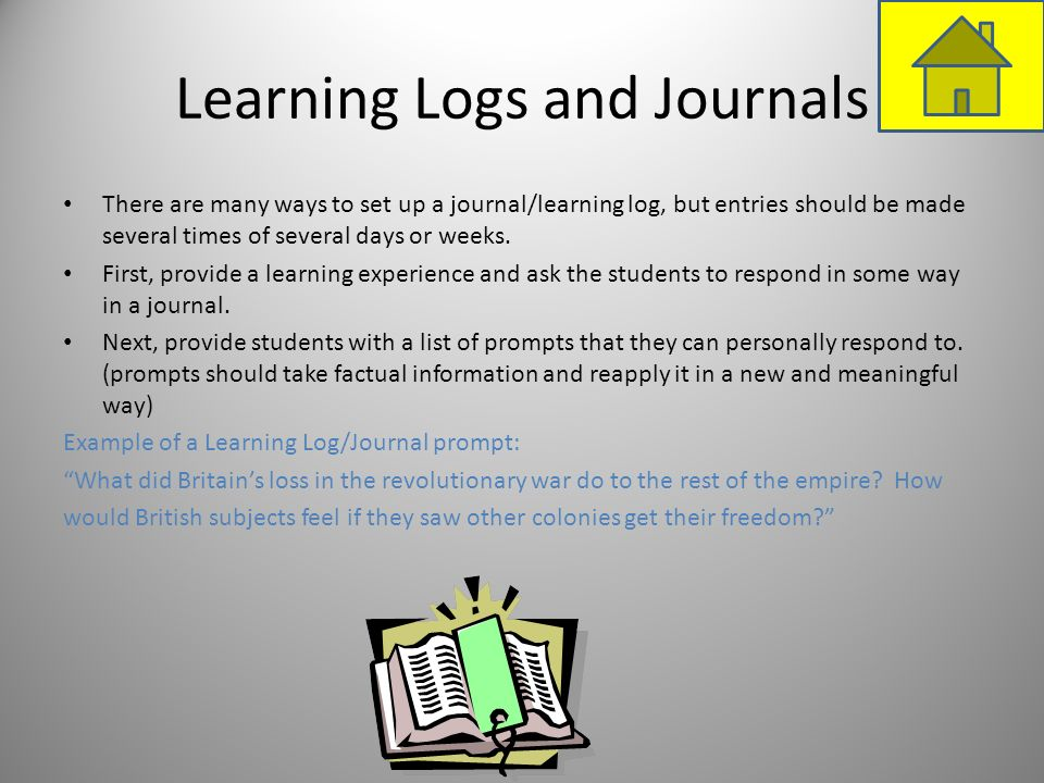 Learning Logs and Journals