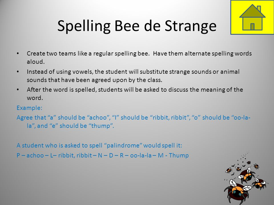 Spelling Bee de Strange