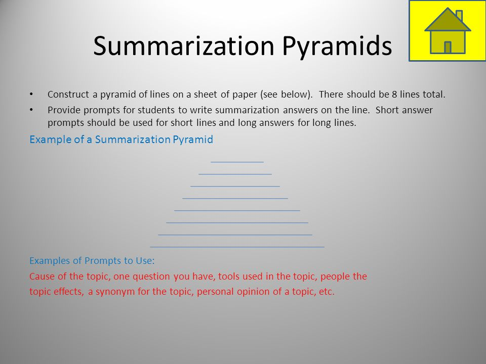 Summarization Pyramids