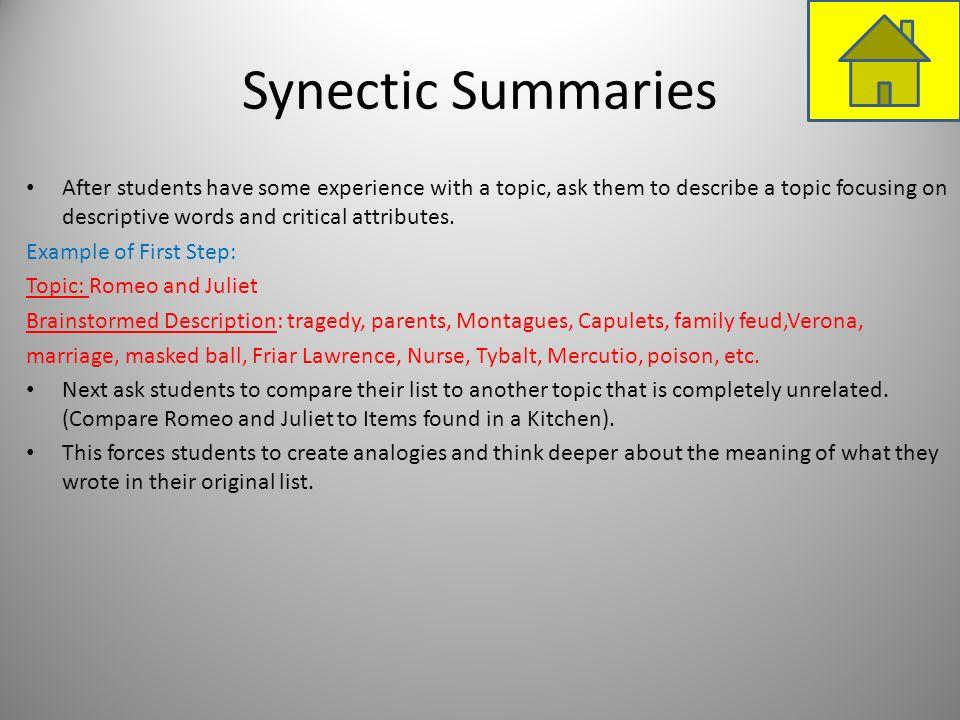 Synectic Summaries