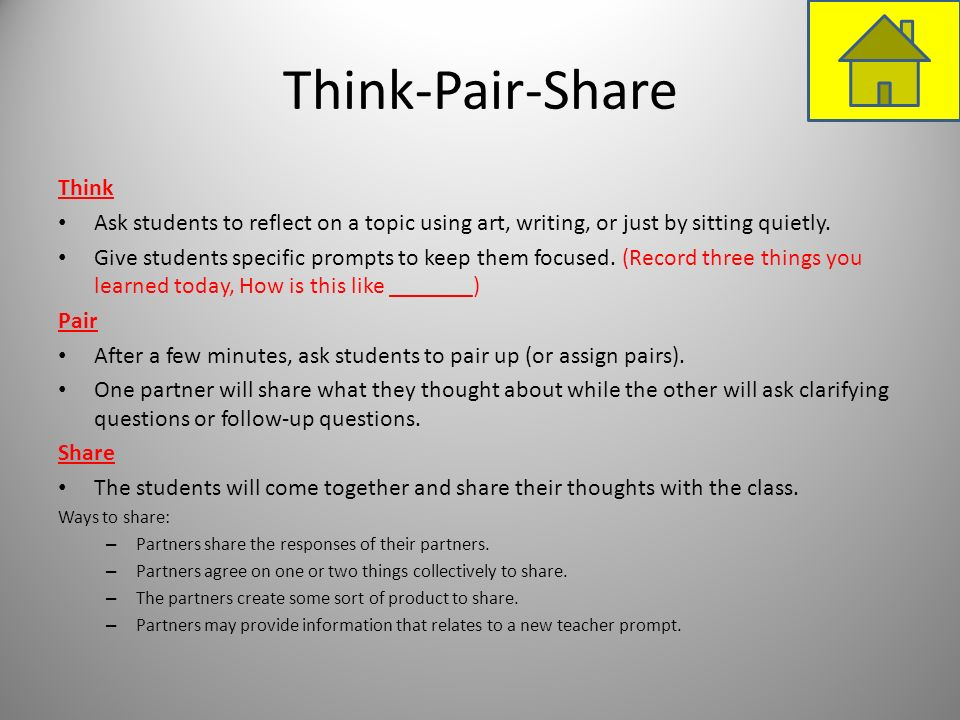 Think-Pair-Share Think