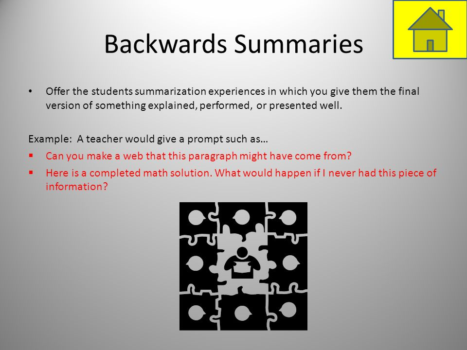 Backwards Summaries