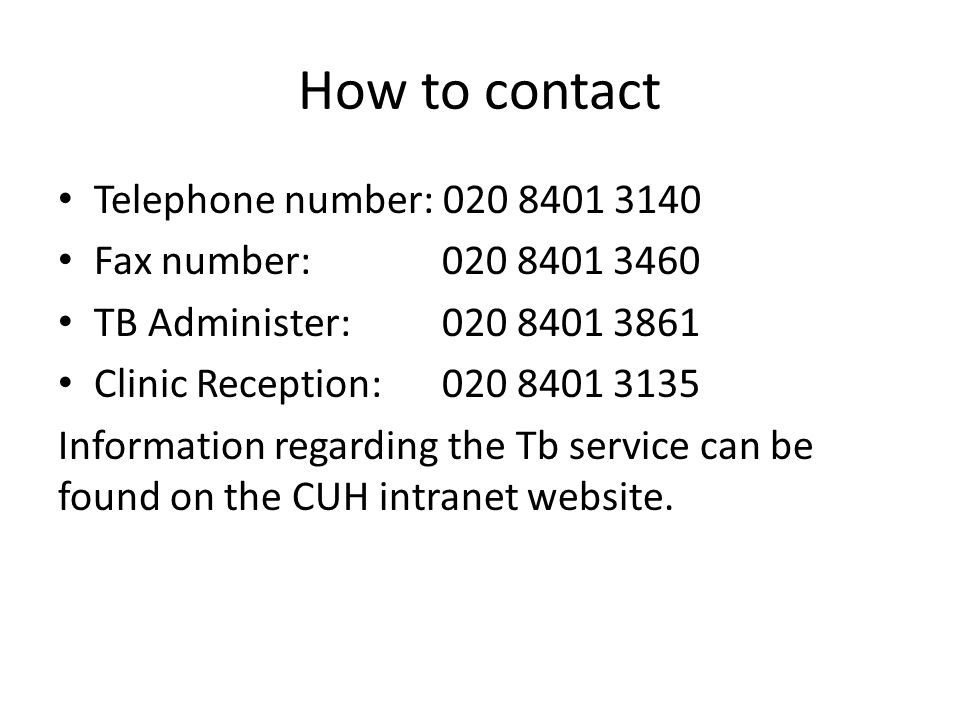 How to contact Telephone number: 020 8401 3140