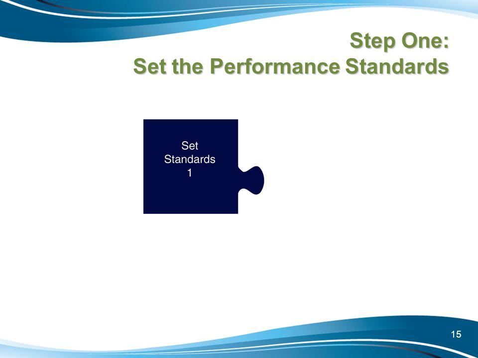 Step One: Set the Performance Standards