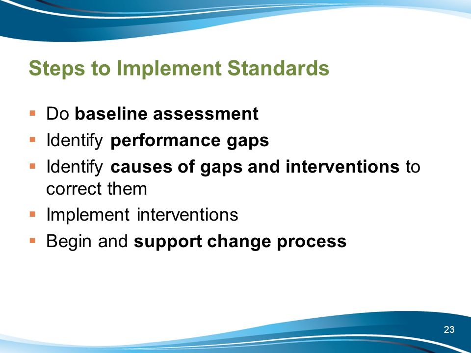 Steps to Implement Standards