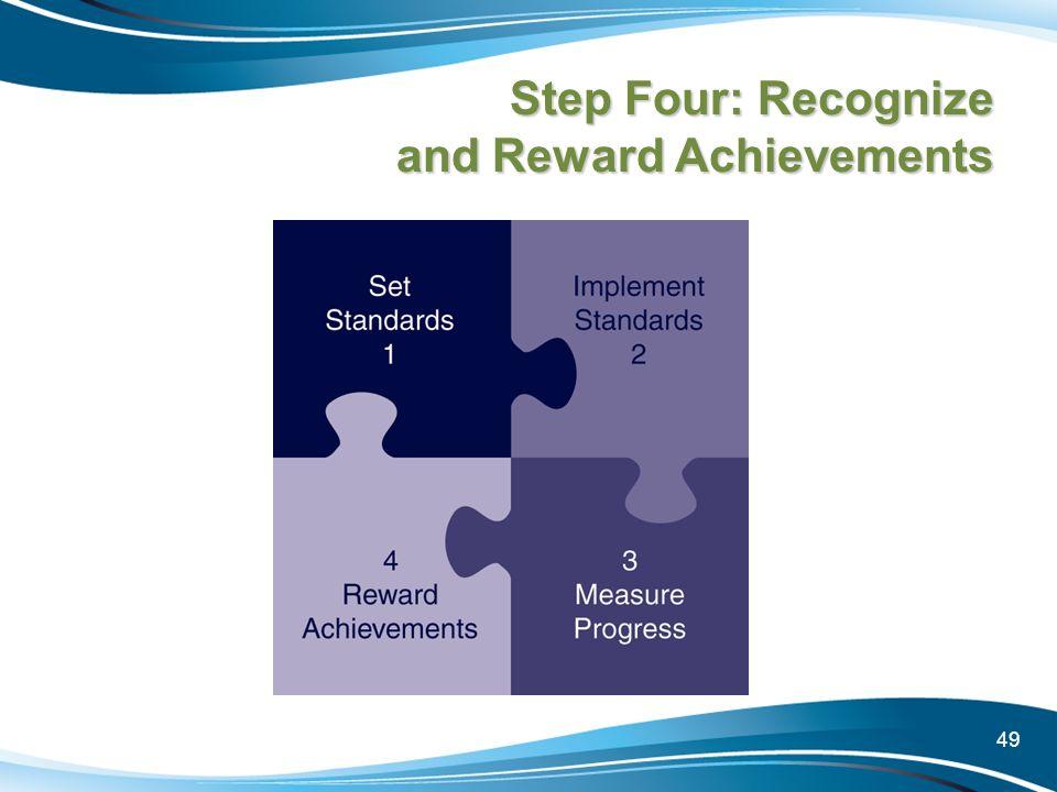 Step Four: Recognize and Reward Achievements