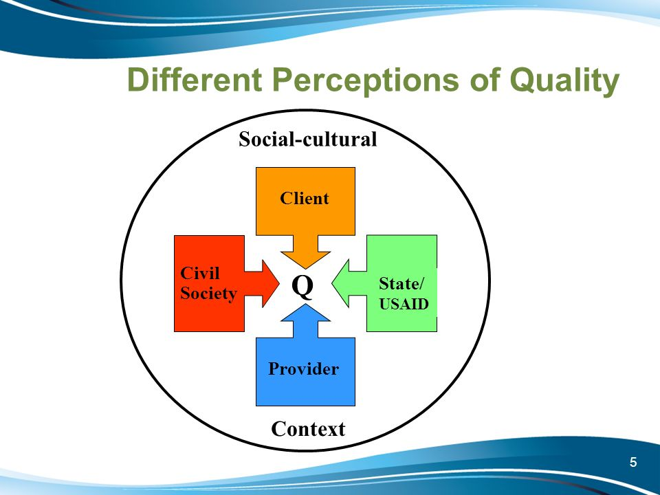 Different Perceptions of Quality