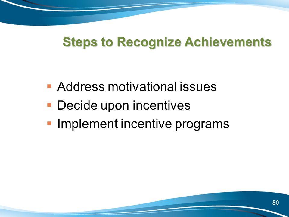 Steps to Recognize Achievements