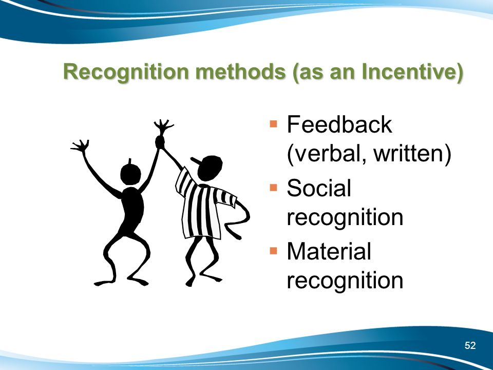 Recognition methods (as an Incentive)