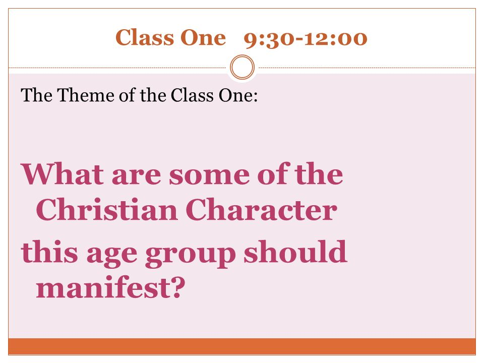 What are some of the Christian Character