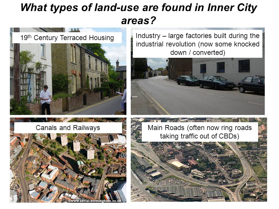 What types of land-use are found in Inner City areas