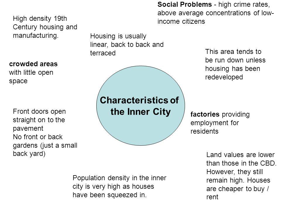 Characteristics of the Inner City