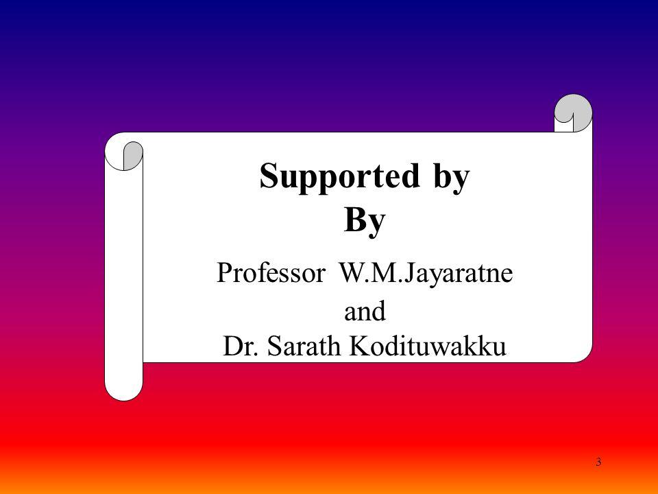 Professor W.M.Jayaratne